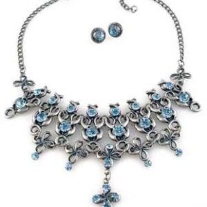 Swarovski art deco Necklace Set