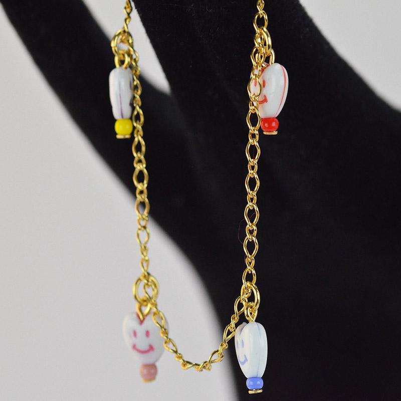 011573b Heart Smiley bracelet Yazzy's Fashion Accessories
