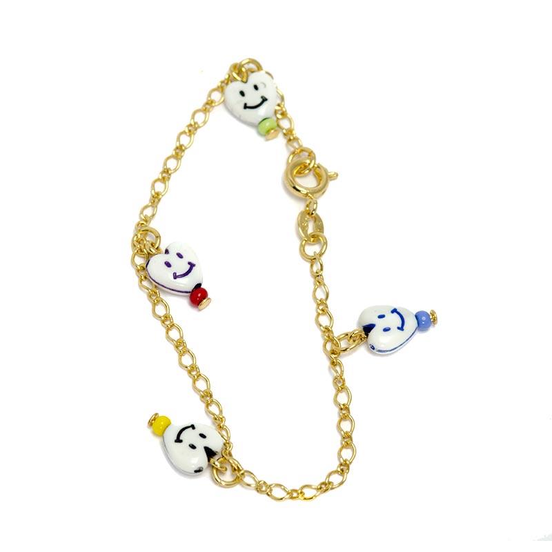 heart smiley bracelet for kids children's jewellery