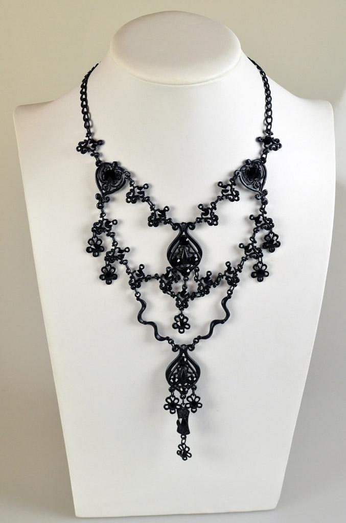 57100 b Zwarte Gothic Ketting Yazzy's Fashion Accessories