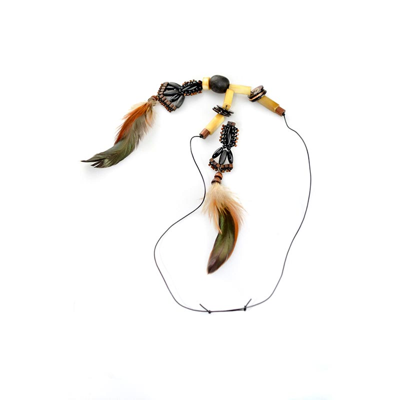 Boho Feathers Necklace Set 2 Boho Veren Sieradenset Yazzy's Fashion Accessories