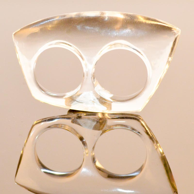 statement ring acrylic double ring for 2 fingers Doppelring aus Acryl Yazzy's Fashion Accessories