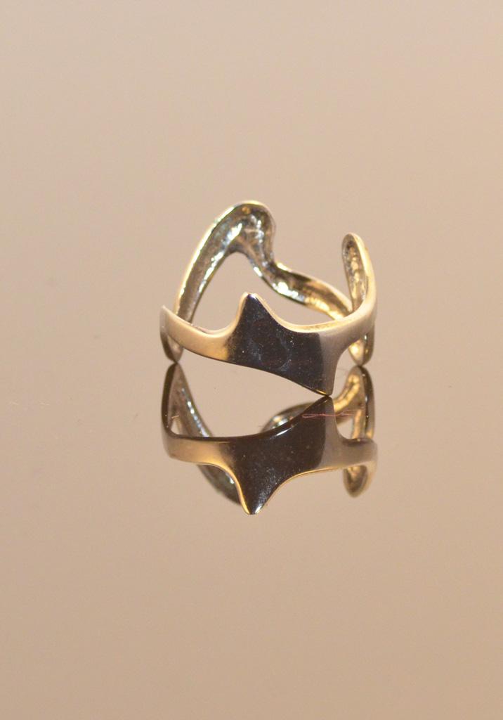 41230c Jagged Ring Verzilverd Yazzy's Fashion Accessories