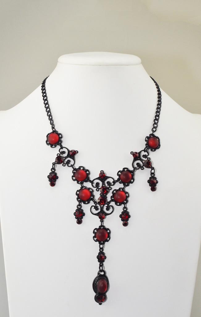 62501 Rode Gothic Sieraden Set Yazzy's Fashion Accessories