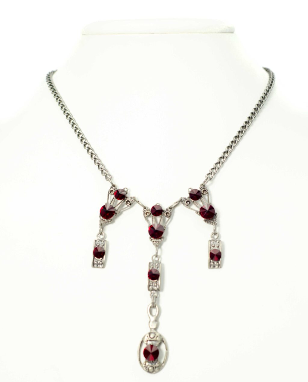 art deco set red scaled Art deco Necklace Set Yazzy's Fashion Accessories