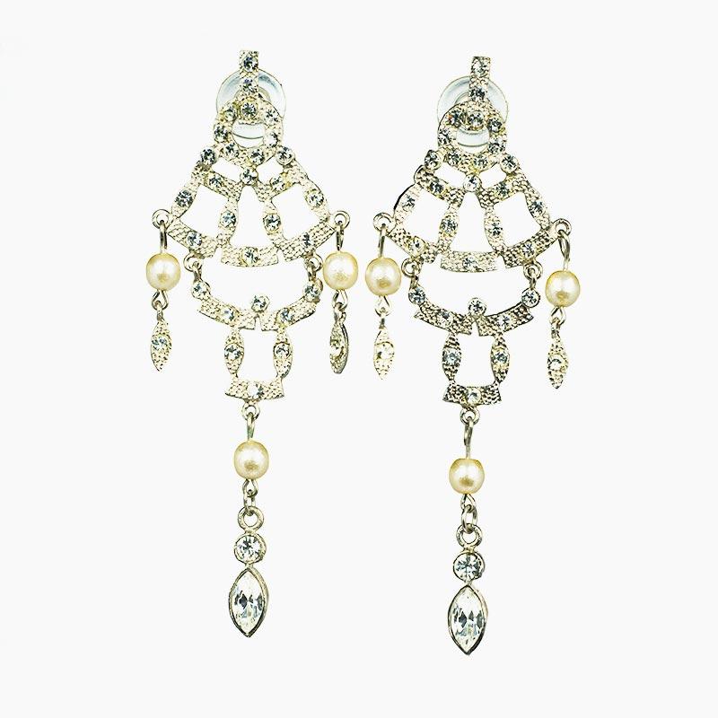 strass moving 1 Strass und Perlen Ohrhänger Yazzy's Fashion Accessories