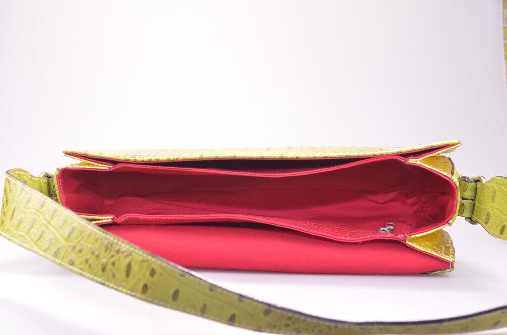 Croco Handbag inside
