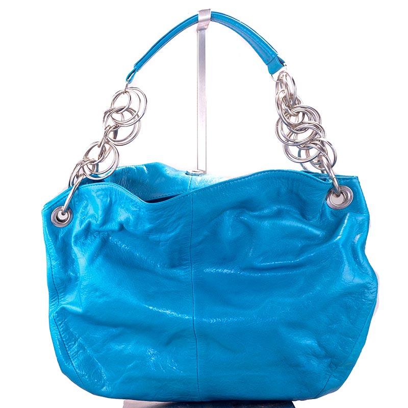 Halo Handbag leather blue