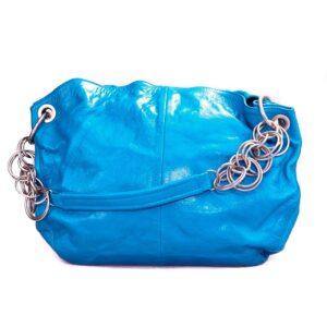 Blaue Ledertasche Halo Damen