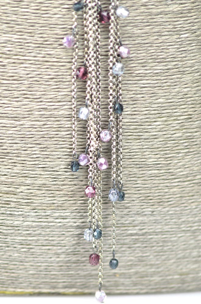 Long necklace multi strands