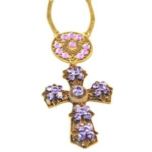Collier croix avec cristaux Swarovski