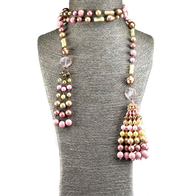 long tassel necklace sets with beads Extreme Kralen Sieraden Set Yazzy's Fashion Accessories