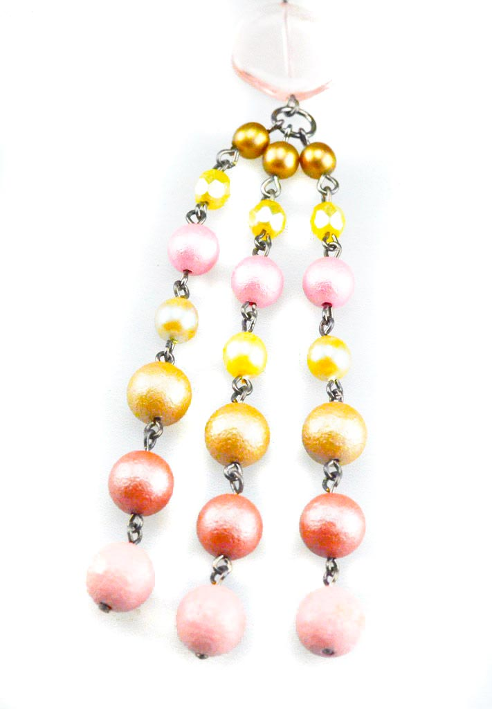 tassel necklace with beads Extreme Kralen Sieraden Set Yazzy's Fashion Accessories