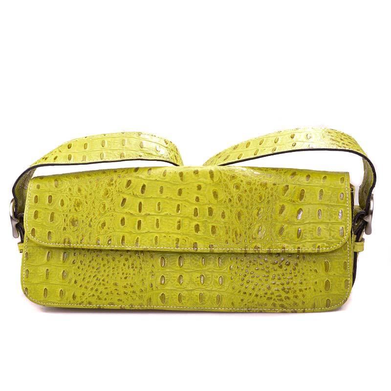 yellow croco handbag