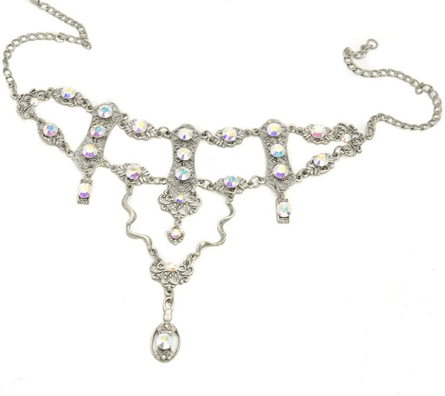 Swarovski Choker Halskette Set mit passende ohrstecker