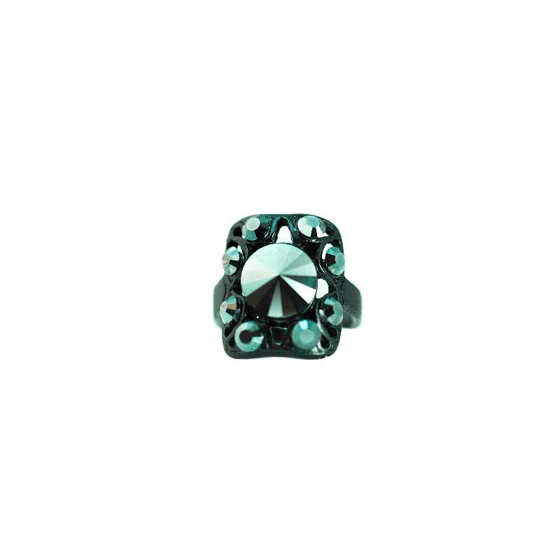 jet black kristallen ring
