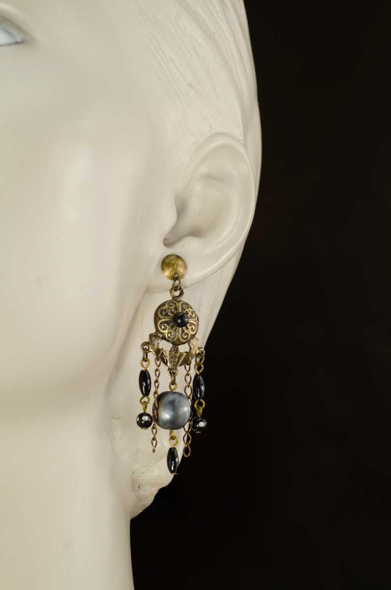 Earring Tribal boho necklace set
