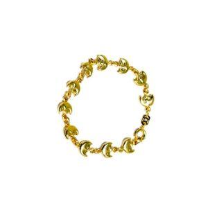 halbmond armband vergoldet