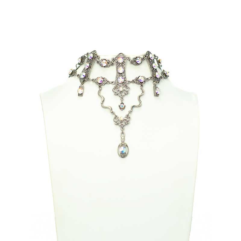 choker borealis aurora Choker Halskette Set mit Swarovski Elementen Yazzy's Fashion Accessories