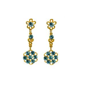 goldfarbenen Ohrringe mit Swarovski kristallen