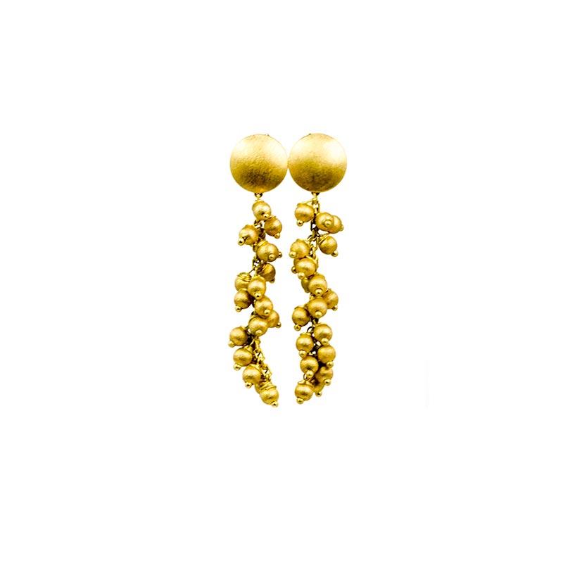 Boucles d'Oreilles Plaqué Or Sphères