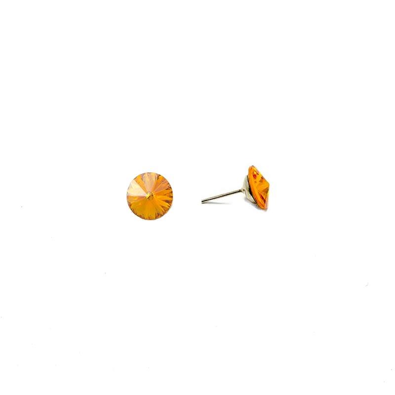 Orange Swarovski earrings