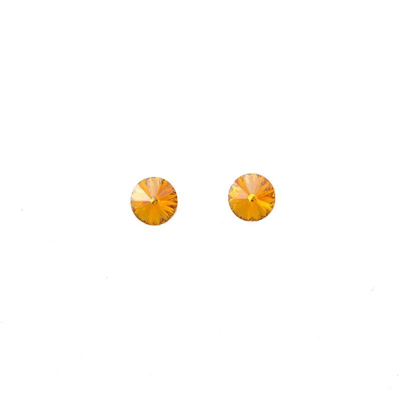 Orange Swarovski studs
