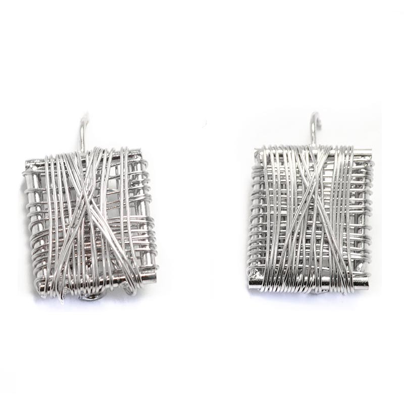 Silver Plated Wired Earrings