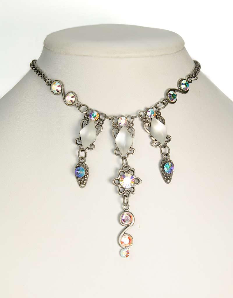Swarovski Necklace set Aurora Borealis