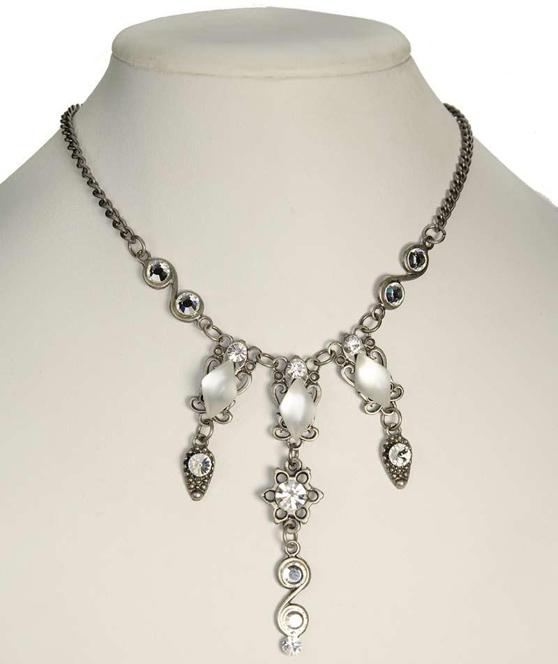 three strand swarovski necklace set Three Strand Necklace Set