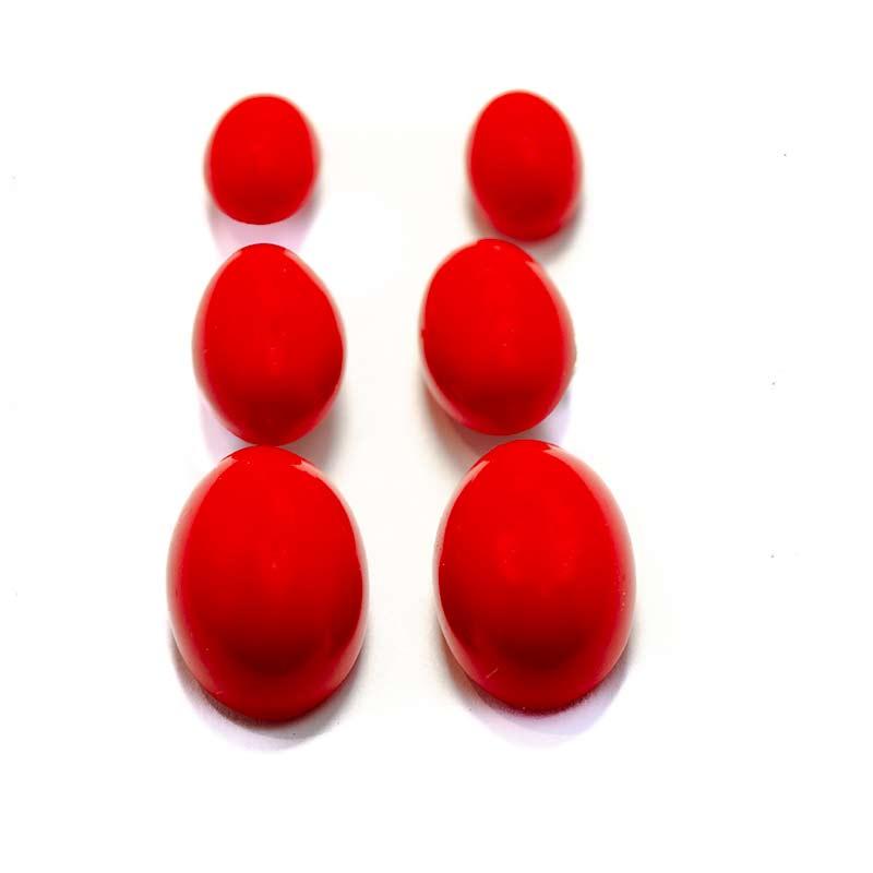 Rode Ovale oorknopjes Oorknopjes