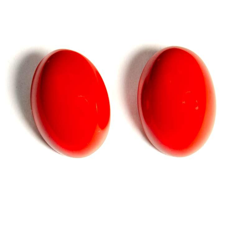 Rode Ovale Oorknopjes Grote Maat