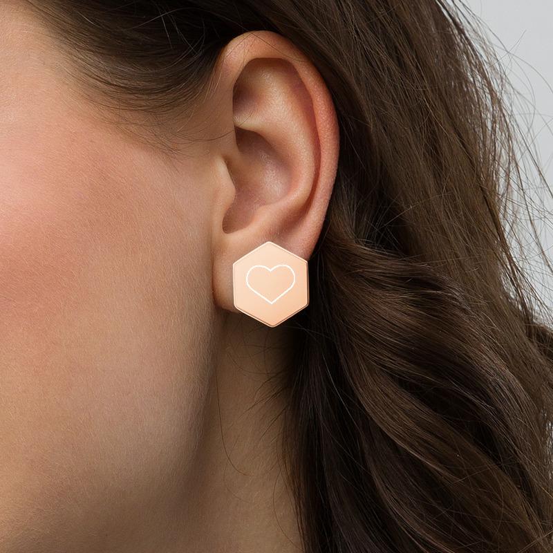 earring in ear rose gold yazzy's