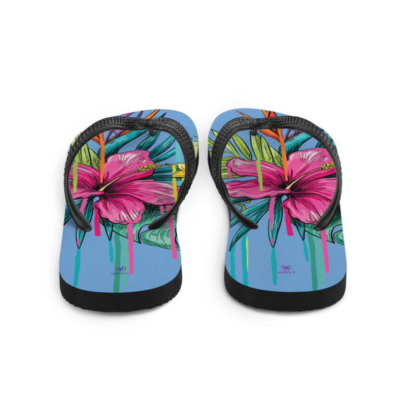 floral flip flops back Tongs Dessin Floral Yazzy's Fashion Accessories