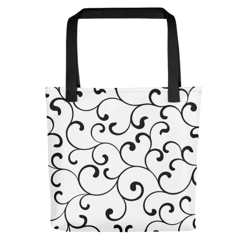 Black Swirl Tote Bag