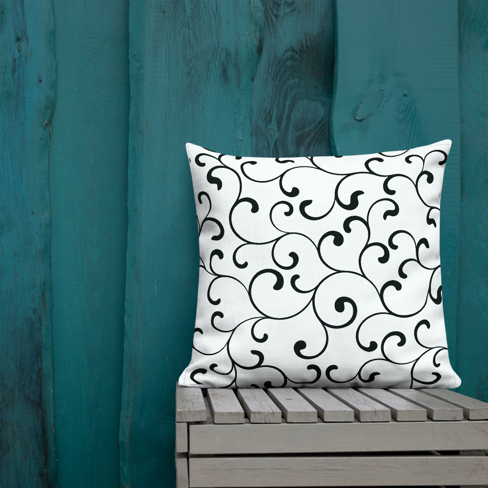 Black and white cushions Swirl Premium Sierkussens Yazzy's Fashion Accessories