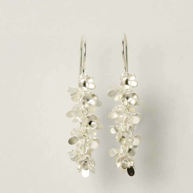 flower earrings sterling silver