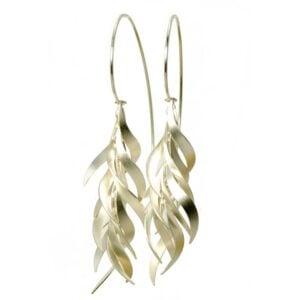 Fire & Ice Earrings sterling silver mat earrings