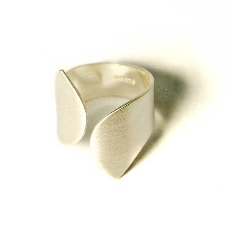 Geometrischen Silber Ring