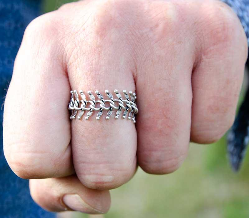 Spikey Metalen Ring Unisex handgemaakte sieraden