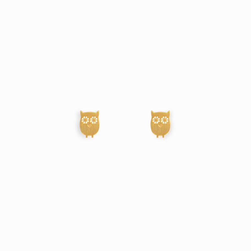 Cute Owl Earring Studs sterling silver