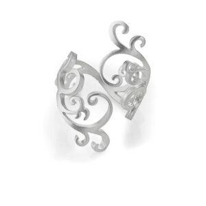 Swirl zilveren Ring