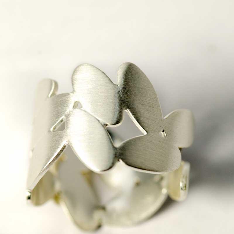 leaf ring sterling silver