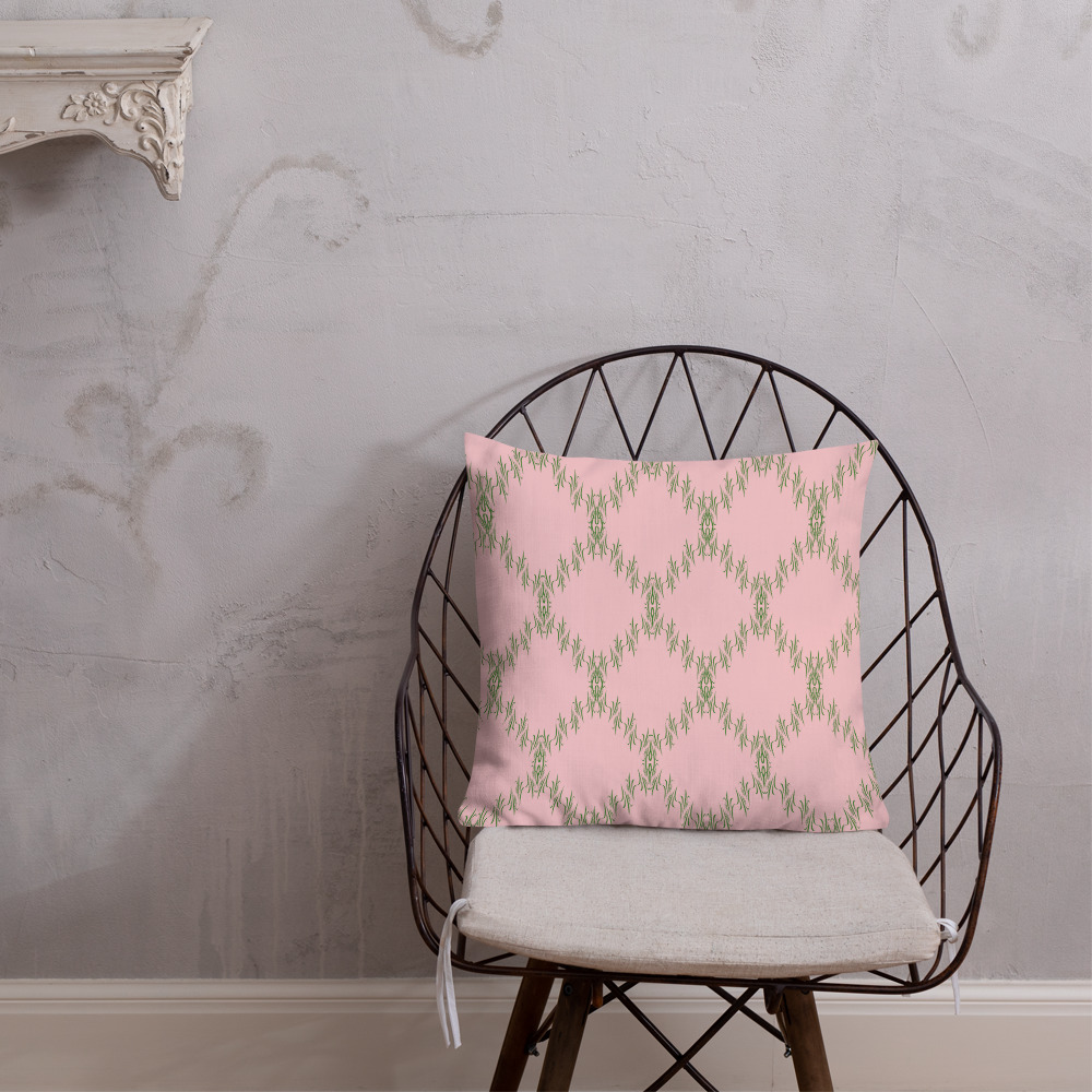 patterned cushions premium green pink Premium Green Pink Cushions Yazzy's Fashion Accessories