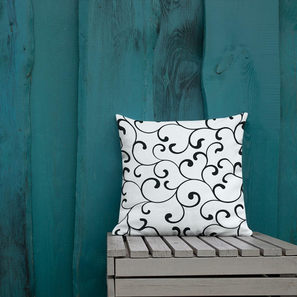 swirl premium cushions in black and white Swirl Premium Sierkussens Yazzy's Fashion Accessories