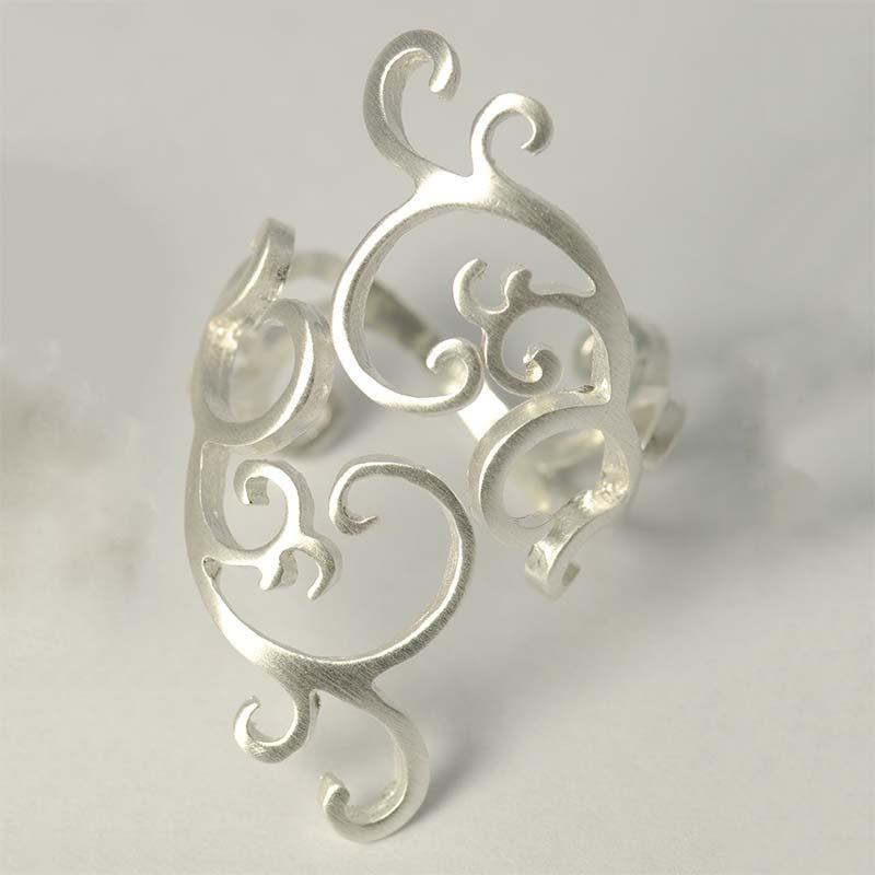 swirl ring Swirl Silber Ring