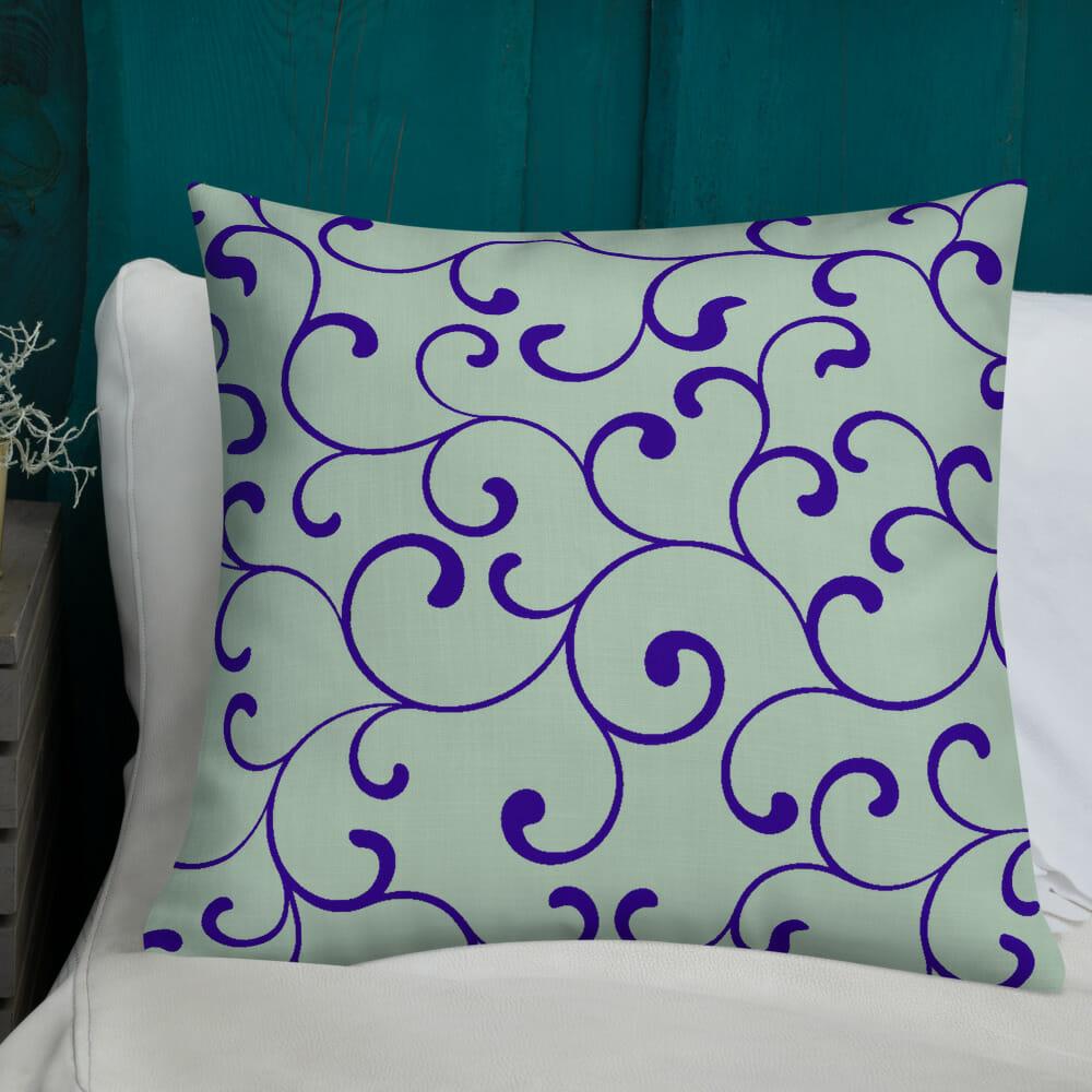Green Blue Premium Pillow Cotton Prachtige Design Kussens