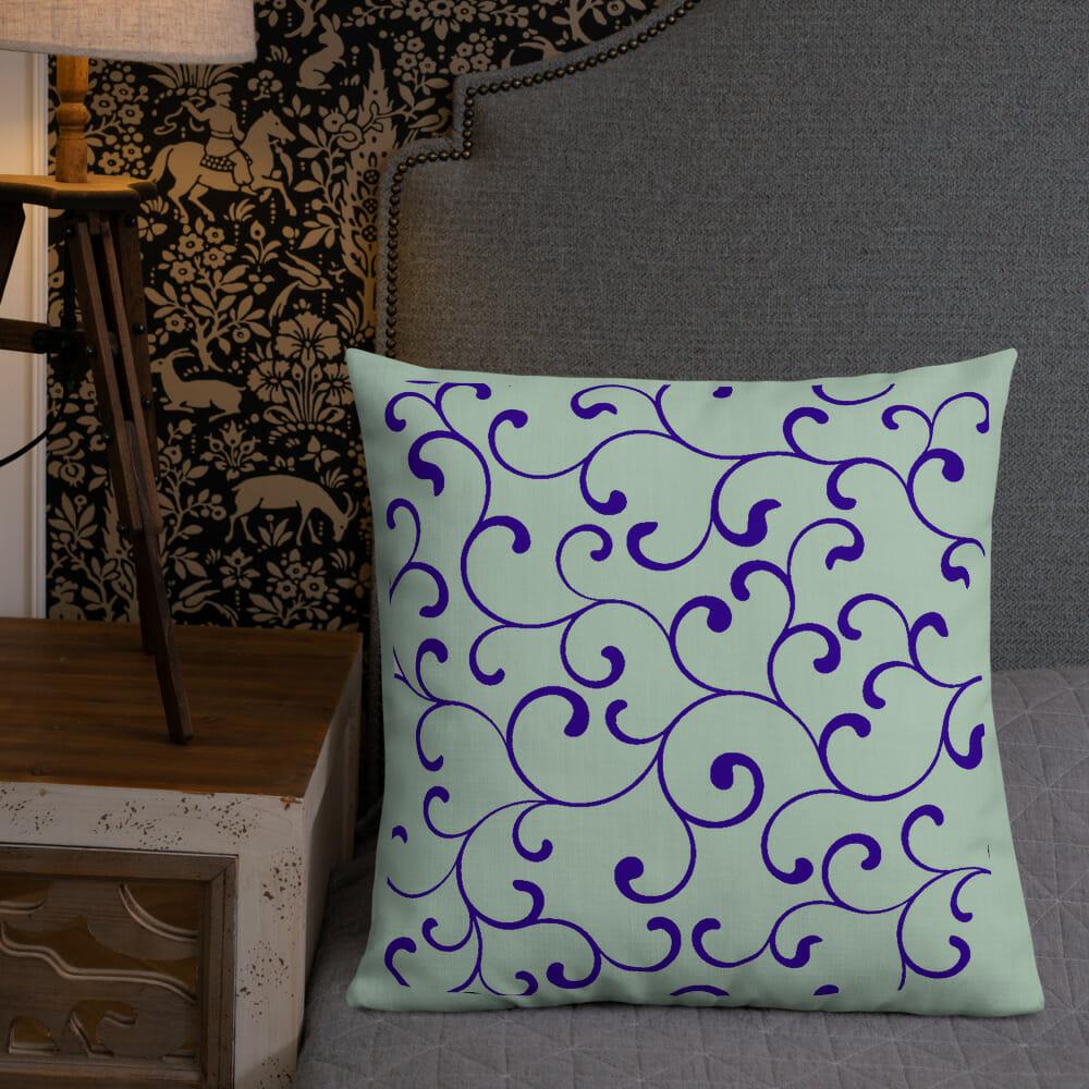 Pillow Green Purple