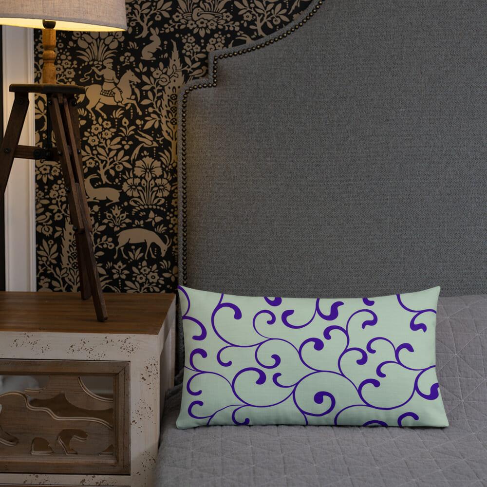 Rectangular green premium cushion Prachtige Design Kussens