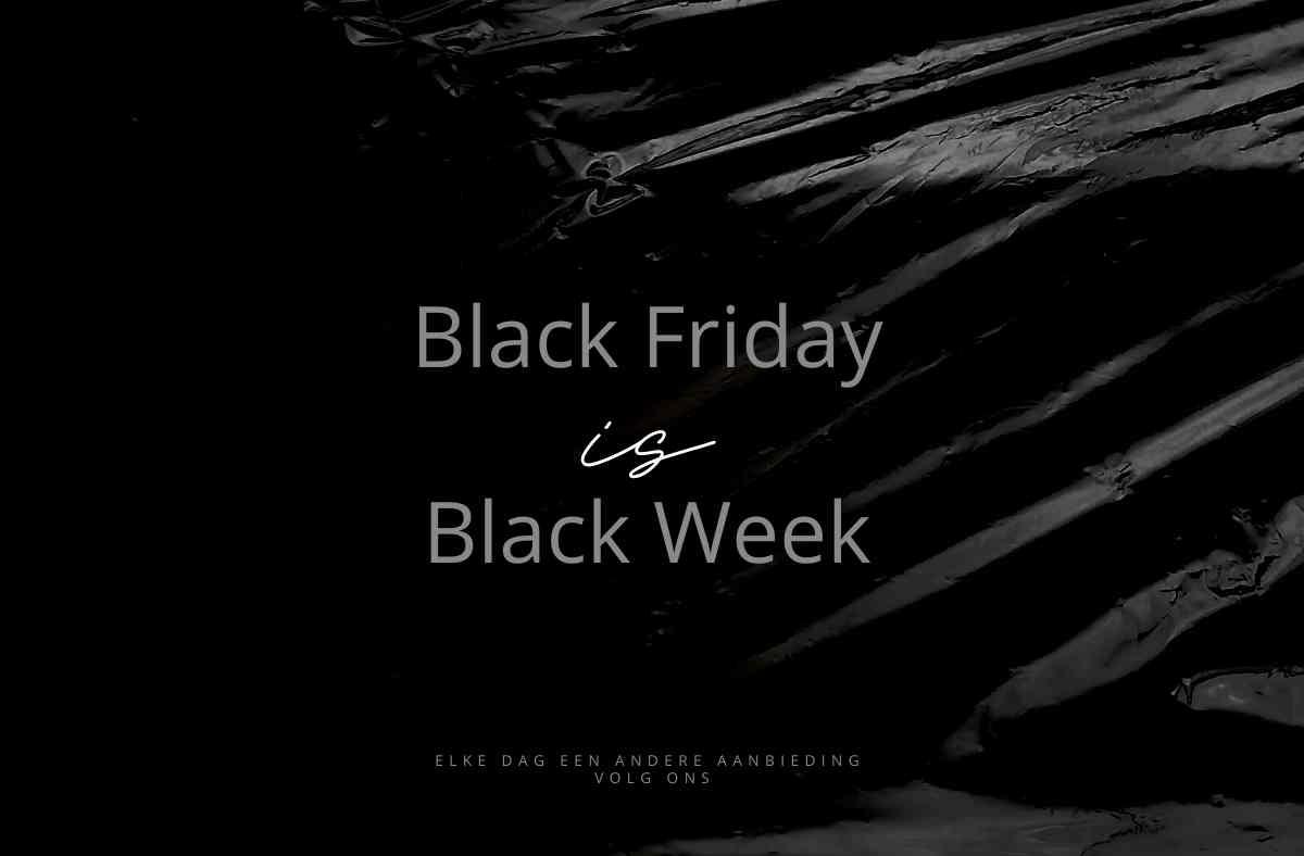 Black Friday word Black week bij Yazzy's FAshion accessories
